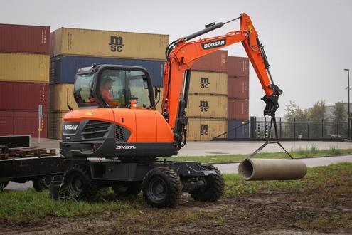 New Doosan 5 tonne Stage 3B Compliant Wheeled Excavator   Hub-4