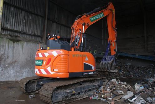 New Doosan Excavators and Loader at Recycling Company | Hub-4